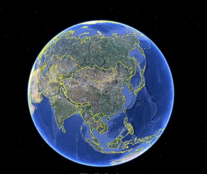 半个地球简笔画彩色